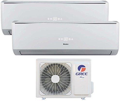 Climatizzatore inverter dual split LOMO 9000 + 9000 Btu (U.E.14) GREE classe A++/A+ - con pompa di calore / deumidificazione