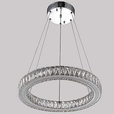 Kal Crystal (MingXinJia Moderne Kronleuchter Deckenleuchten Anhänger Crystal Pendant Light Befestigungen für Küche Wohnzimmer Esszimmer mit Single Ring D40Cm 27W 3C Ce FCC Rohs für Wohnzimmer Schlafzimmer, Kal)