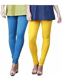 Limeberry Women's Cotton Legging Pack of 2 (LB-2PCK-LEGG-CMB-4_Multicolor)