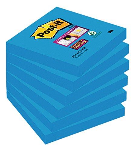 post-it-di-formato-76-x-76-mm-super-sticky-notes-mediterranean-colore-blu-confezione-da-6