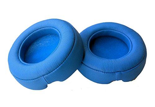 1paio di auricolari di ricambio Pad auricolari del cuscino parti di riparazione per Beats Mixr/Monster Beats Mixr cuffie paraorecchie cuscino (blu)