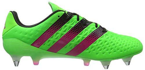 adidas Ace 16.1 SG, Chaussures de Foot Homme Vert (Solar Green/Shock Pink/Core Black)