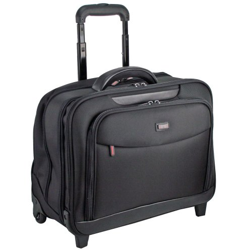 d&n Business & Travel Businesstrolley Overnighter mit Laptopfach 17,1 Zoll 48 schwarz (Overnighter Leder)