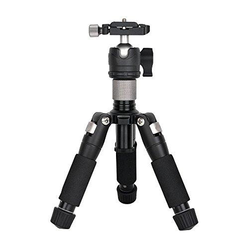 MENGS® K521 505mm Tragbares kompaktes Tischstativ + Niedrigprofil Kugelkopf Aluminium Legierung Für DSLR-Kamera, Video-Camcorder, Sport-Kamera, Objektive, Fernglas, Teleskope