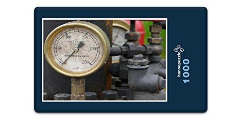hansepuzzle 13626 Industrie - Druckmesser, 1000 Teile in hochwertiger Kartonbox, Puzzle-Teile in wiederverschliessbarem Beutel