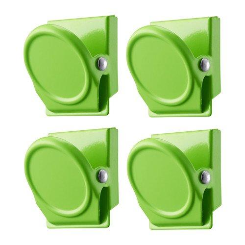 IKEA magnetische Clips OLEBY Magneten Set mit 4 Stück in 3 Farben (grün)
