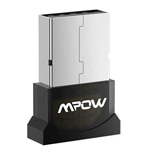 Mpow Adaptador USB Bluetooth para PC, Coche, Audio, TV , Ordenador de Sobremesa con Windows 10, 8.1, 8, 7, Vista, XP 32/64 bit, Compatible con el Teclado, el Ratón, el Altavoz, los moviles, etc