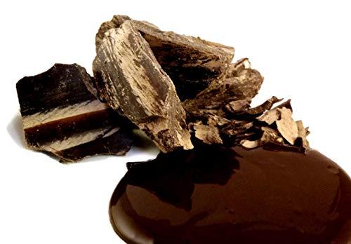 Edelmond Schwarze Kakaobutter Bio, zum Kochen, Backen und Schokolade machen. Vegane dünn-flüssige Kuvertüre voll pflanzlich, ohne Zucker / Low Carb (250 g) -