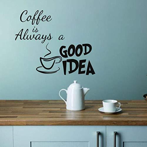 Dwqlx Kaffee Ist Immer Eine Gute Idee Küche Wandaufkleber Wohnzimmer Vinylkleber Wanddekor Aufkleber Removable Home Decoration 44 * 40