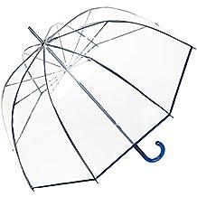 VON LILIENFELD® Paraguas Mujer Hombres Campana Transparente Translúcido Melina