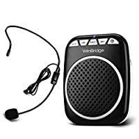 Portable Voice Amplifier with Personal Microphone,Mini Voice Speaker Pa System Waist Support MP3 Format Audio for Tour Guides, Teachers, Coaches, Presentations, Costumes, Etc.-Black