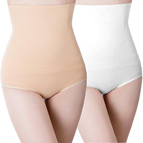 Libella Damen figurenformend Miederslip mit Bauch-weg-Effekt 3608 (2er Pack) Weiß/Haut M/L