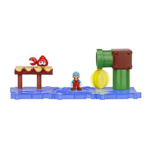 Mario Bros - World of Nintendo Micro Land Playset: Sparkling Water with Ice Mario figura (Jakks Pacific JAKKNIN019SWIM)