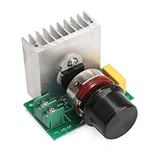 DROK® AC 220V 3800W alta potenza di tensione SCR controller regolabile luminosità Velocità del termostato stabilizzatore di tensione di regolare la luce Velocity Temp