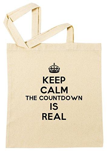 keep-calm-the-countdown-is-real-cotton-borsa-della-spesa-riutilizzabile-cotton-shopping-bag-reusable