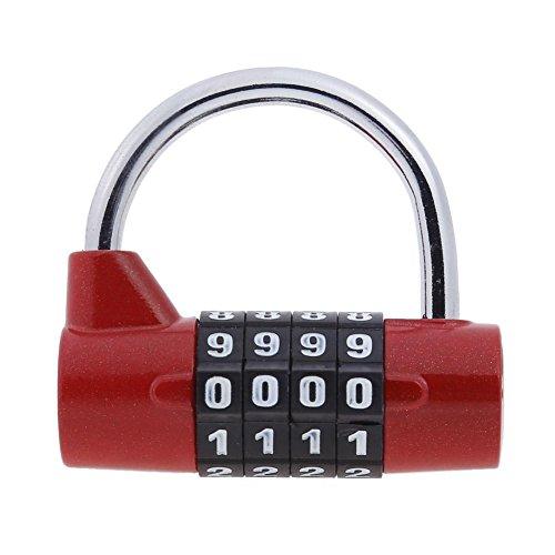 Asiproper 4chiffres Mot de passe de sécurité antivol Cadenas à combinaison à anse Large NEUF...