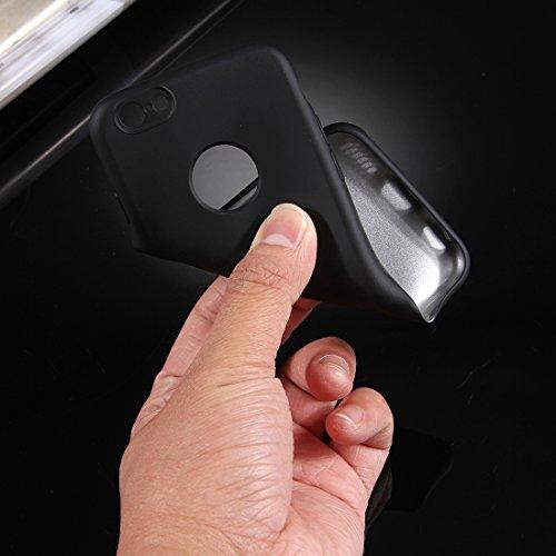 MXNET Fall für iPhone 6 u. 6s, 360 Grad Voller Schutz weicher TPU rückseitige Abdeckung + PC vorderer Kombinationsfall ,Iphone 6/6s Case ( Color : Red ) Black