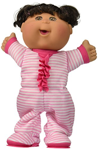 cabbage-patch-kids-125-pajama-dance-party-brunette-caucasiant-girl-pink-white-stripe
