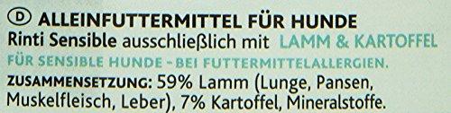 Rinti Hundefutter Sensible Lamm & Kartoffeln 800 g, 12er Pack (12 x 800 g) - 3