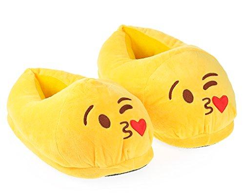 Nette Warme EMOJ Winter Erwachsene Schuhe Männer / Damen Hausschuhe Weich Fun Emoticon Slipper für Unisex Jungen / Mädchen kissy