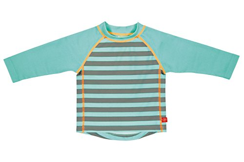 Lässig Splash & Fun Long Sleeve Rashguard / Baby Badeshirt / UV-Schutz 50+  boys, M / 12 Monate, striped aqua