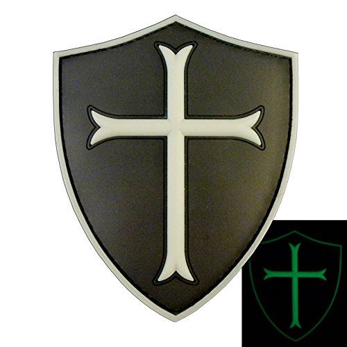 ACU Black US Navy Seals DEVGRU Crusaders Templar Knight Cross Morale PVC Fastener Patch