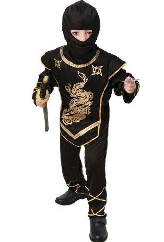 fyasa 706078-t02Ninja Kostüm, Gold, Medium (Weibliche Ninja Outfit)