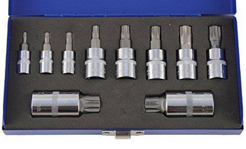 "'Socket Set 10Piece XZN M4M18Spline Bit 1/4""3/8"" 1/2Inch Drive Test"