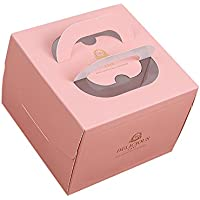 Zhi Jin 2pcs mango papel cajas de cartón cuadradas para tartas Bakery de postre comida con