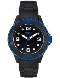 Mango A68353-1SS5KV - Reloj para mujeres, correa de silicona color negro