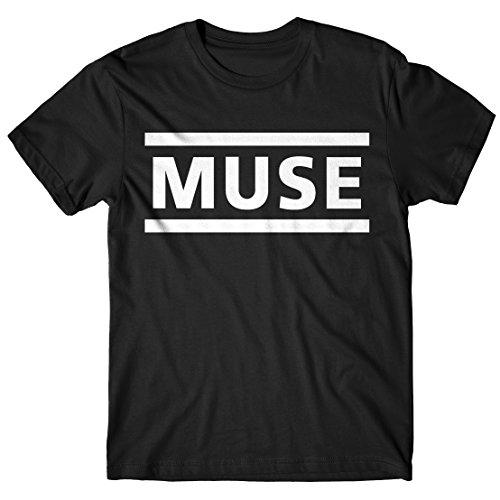 LaMAGLIERIA Herren-T-Shirt - Muse T-Shirt Rock Band 100% Baumwollee, XL, Schwarz