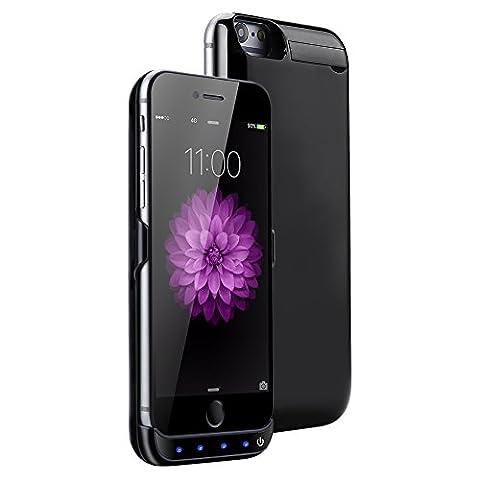 Mondpalast@ Diamantschwarz 5500 mah Akkuhülle Batterie Hülle Case externe Batterie Akku Case Hülle Zusatzakku Power Pack Cover für Apple iphone 7 iPhone7 IPHONE 7 4.7