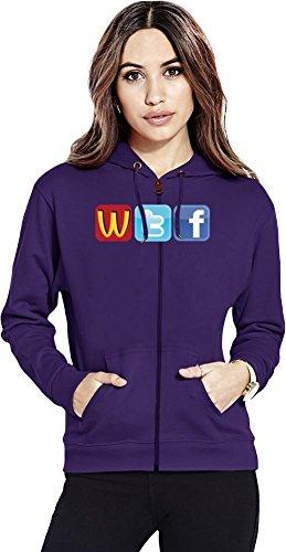 Logo Fun WTF McDonalds Twitter Facecbook Womens Zipper Hoodie X-Large