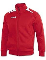 Joma Champion LL Cotton Veste de survêtement en polaire Rouge/Blanc