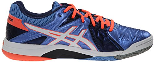 Volleyball Shoe White Womens Asics Sensei Gel Coral Powder Cyber Blue 6wfwIa