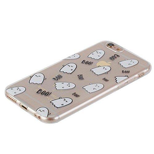 Etsue Custodia iPhone 5S Trasparente,Colorate Dipinto Modello Con Disegni,iPhone SE Cover in Silicone Tpu Flessible Sottile Antiscivolo e Antigraffio Protettivo Cover Bumper Case Per iPhone 5/5S/SE+Bl Boo