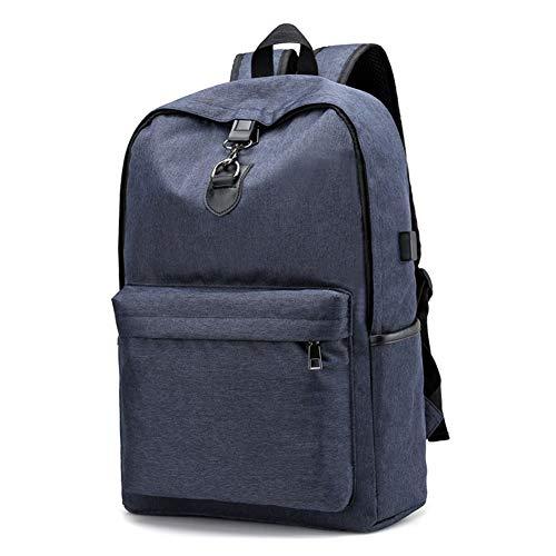 Qys Oxford-Tuch College-Stil Rucksack Lässig Im Freien Sportrucksack Laptop-Tasche Lunchpaket,Blue