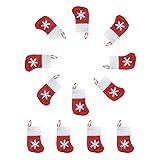 OULII Sacchetti regalo del calzino di Natale Portabiti del fiocco di neve Portablocchetti della caramella 12pcs