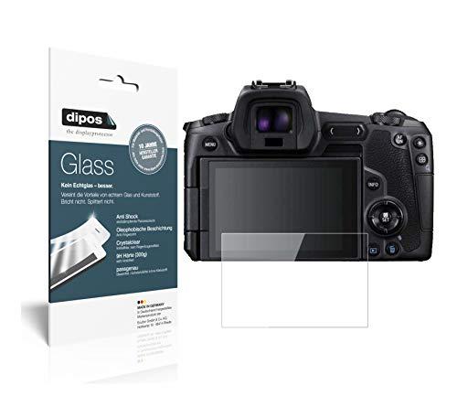 dipos I 2X Pellicola Protettiva per Canon EOS R Protezione Vetro Flessibile 9H