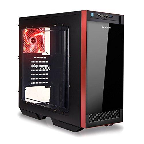 In Win 503 Frontgehäuse aus Glas für Mid Tower, rot/schwarz