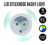 LED Steckdose Nachtlicht mit Dämmerungssensor Emotionlite Nachtlampe Kinder Schützen Steckdose