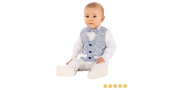 Boutique-Magique Costume Mariage baptême bébé garçon Blanc et Bleu Royal   Amazon.fr  Vêtements et accessoires 0a43c483109