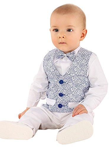 Boutique-Magique Costume Mariage baptême bébé garçon Blanc et Bleu Royal, Bleu Roy, 6 mois