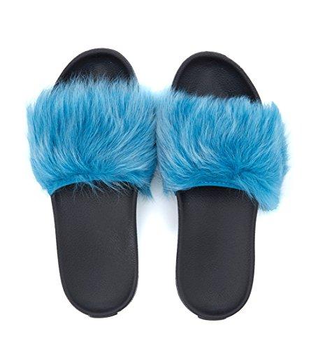Pelliccia Fascia Blu Ugg Nero Royale Formaggio Il Con Ciabatta xXYwX74qp