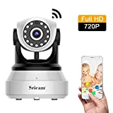 Sricam 720P HD IP Camera, Telecamera di Sorveglianza  Wireless, Notturna a Infrarossi, Audio Bidirezionale, Controllo Remoto e Email allarm, Compatibile con iOS / Android / PC