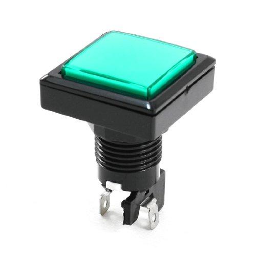 solo-per-montaggio-su-pannello-di-radio-shack-spst-interruttore-a-pulsante-colore-verde