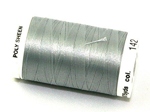Mettler-Polysheen Polyester Maschine Stickgarn 800m 800m 142Sterling–Pro Spule (Mettler-polyester-faden)