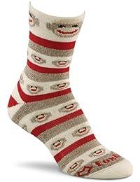 Fox River Women's Red Heel Merino Monkey Stripe Crew Socks
