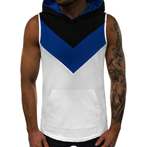 Big And Tall Mesh Polo Shirt (Strungten Herren Sport Tanktop Ärmelloses Hoodie Fitness Gym Shirt Trägershirt mit Kapuze Tank Top mit Hoodie Tankshirt T-Shirt mit Rundhalsausschnitt Weste Muskelshirt Gestreifte Herrenwestenjacke)