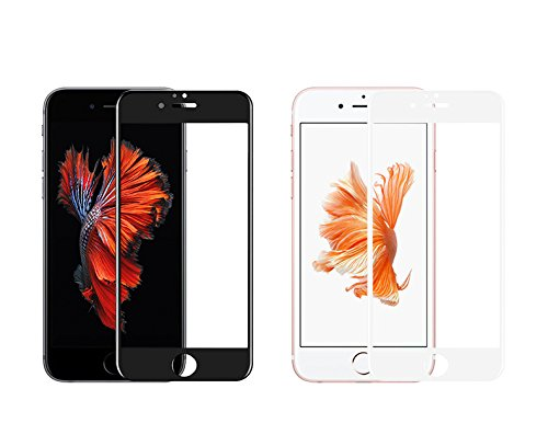 iPhone 6S Plus Premium Quality, FULL Curved Tempered Glass Screen protector to mimic the original display with full 3D frontal cover protection by TORRO (iPhone 6 Plus/6S Plus, All Glass Black) White